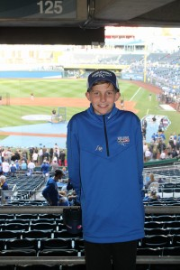 Zack at the World Series in Kansas City
